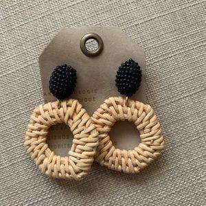 Anthropologie Jana Wicker Drop Earrings